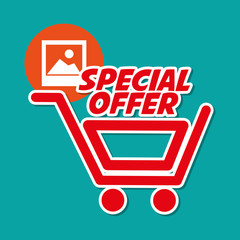 Shopping design. Marketing icon. Isolated illustration, vector