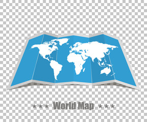 World map realistic on a isolated background