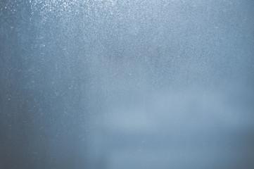 Closeup photo of fogged window glass background
