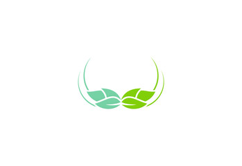 nature green leaf organic logo