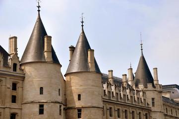 Paris - Türme des Justizpalastes, ehemals Palais de la Cité