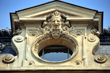 Paris - Fassadendetail am Palais de la Cité, dem heutigen Justizpalast