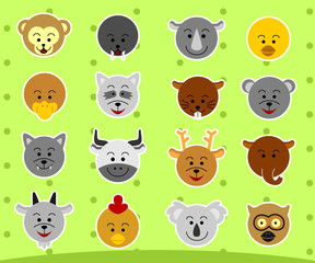 Set Animals Flat Icon 2