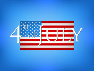4th of July vector illustration. Independence Day illustration.. Web banner