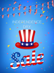 Independence Day Sale vector illustration.4th of July vector illustration.  Web banner