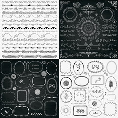 Mix of Black and Chalk Drawing Rustic Design Elements