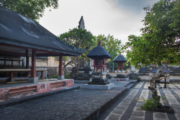 Inside of balinese temple at Pura Uluwatu, Bali, Indonesia