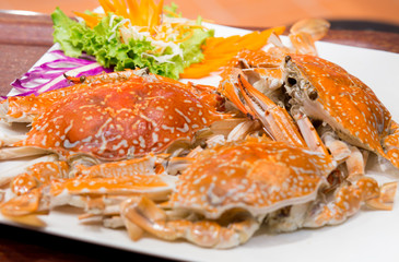 Steamed Crab Seafood