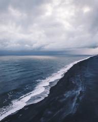 Endless coastline - Cold atmosphere over endless atlantic shore line.