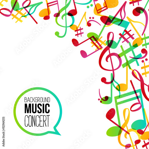 music background musical background with musical notes vector rh fotolia com Music Notes SVG Music Notes Graphics