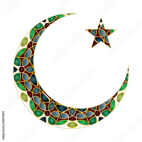 Islamic Muslim Holiday Celebration Abstract Modern Background With