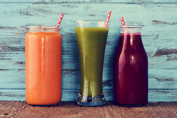 different fresh smoothies
