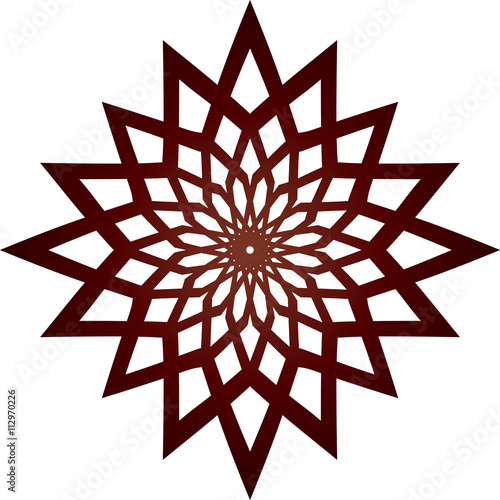 """Circular geometric pattern in arabesque style. Eight ..."
