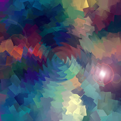 Abstract coloring horizon   gradients background with visual cubism and zigzag effects
