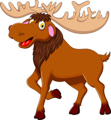 cute moose cartoon for you design