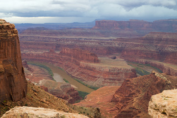 View of the Dead Horse Point State Park,before rain.