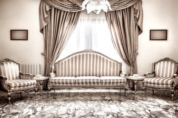 Beautiful retro interior design