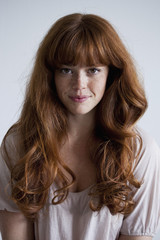 A beautiful young red haired woman, portrait