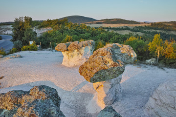 The Stone Mushrooms viewed from above near Beli plast village, Kardzhali Region, Bulgaria