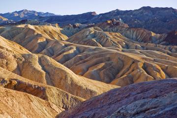 The eroded landscape of Zabriskie Point in Death Valley