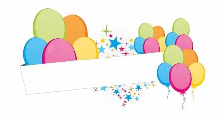 Obraz Urodzinowe kolorowe balony  - fototapety do salonu