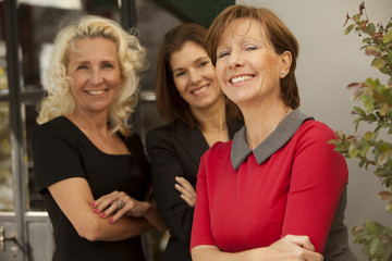 Happy group of business women