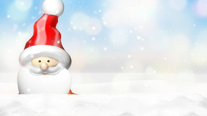 christmas winter festive background 3d figure render design