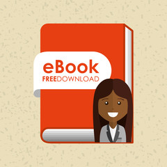 person using an electronic book design
