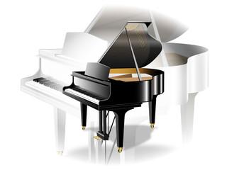 ピアノ白と黒