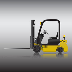 Logistics and delivery by forklift, Vector image...