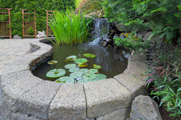 Garden Backyard Pond with Waterfall