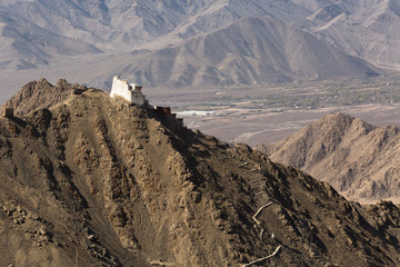 Fort and Namgyal or red gompa is main Buddhist centre in Leh-Lad