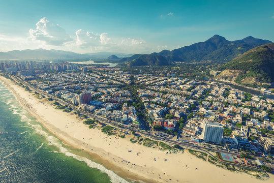 Barra da Tijuca Beach aerial view, Rio de Janeiro