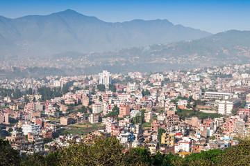 Panorama view to Kathmandu city