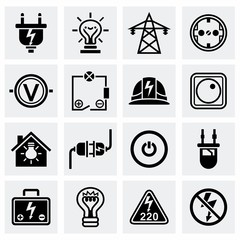 Vector Electricity icon set