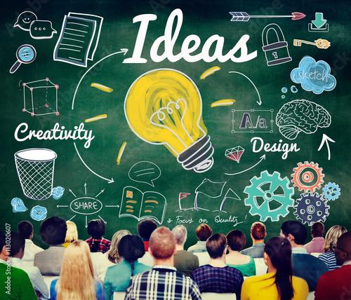 Ideas Idea Vision Design Plan Objective Mission Concept Wall Mural Wallpaper Murals Rawpixel Com