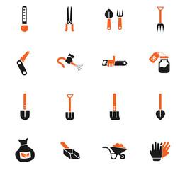 garden tools icon set