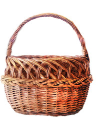 watercolor sketch: basket on a white background
