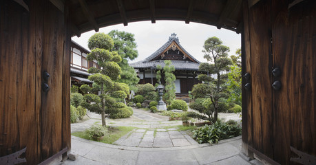 A temple and garden, Japan