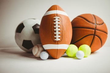 View of different ball sport