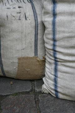 Two cloth sacks