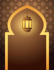 Islamic Arabian style background with lantern