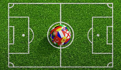 Fußball EM 2016 auf Spielfeld