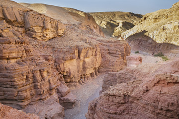 Red canyon in mountains of Eilat