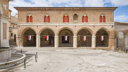 building in Fabriano Italy Marche