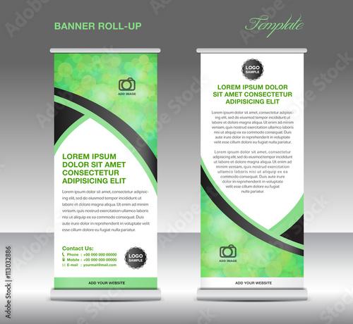 Green banner stand template, stand design,banner template, Green ...