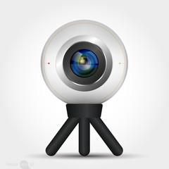 Digital camera with stand