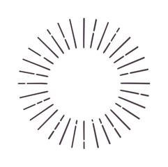 Abstract bursting rays sun lines illustration.