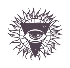 Esoteric symbol vector illustration.