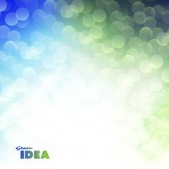 Green Idea - Eco, Bio, Nature Background Design Template With Bokeh Effect
